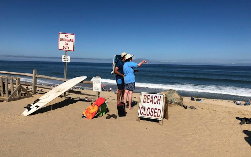 Newcomb Hollow Beach was closed on Saturday after a surfer was killed by a shark - ap