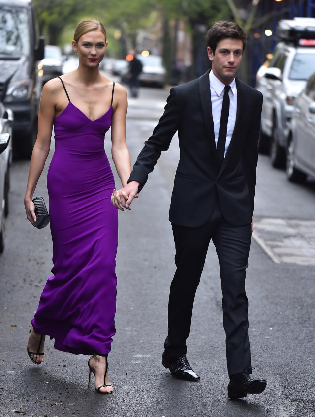 Kloss and Kushner, stepping out together in NYC in 2016, dated six years before becoming engaged. (Photo: Alo Ceballos/GC Images)