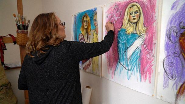 'I'm painting these … beautiful survivors,' Farmer said. 'I want these girls to be honored individually.' (ABC News)