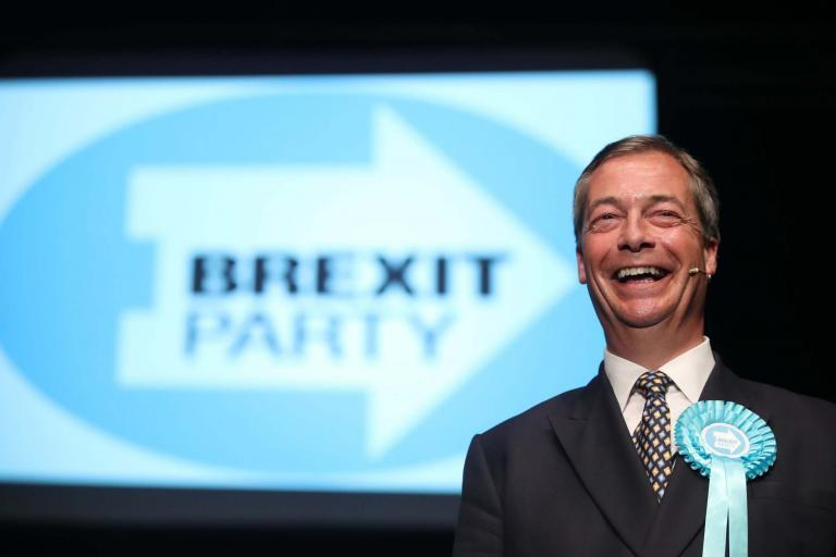 Brexit Party tops national poll for first time as Nigel Farage hails 'historic moment'