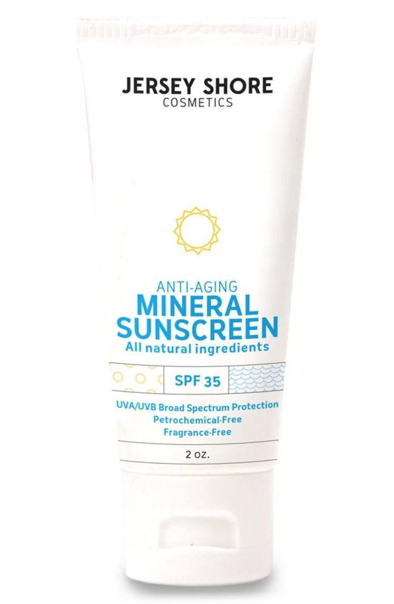 <p>Stay protected with this <span>Jersey Shore Cosmetics Broad Spectrum Sunscreen SPF 35</span> ($40).</p>