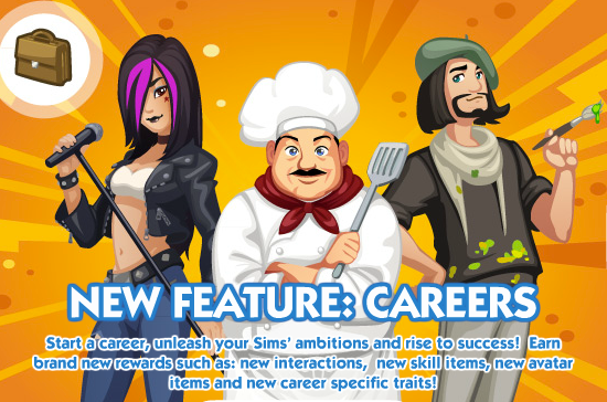 The Sims Social Careers promo