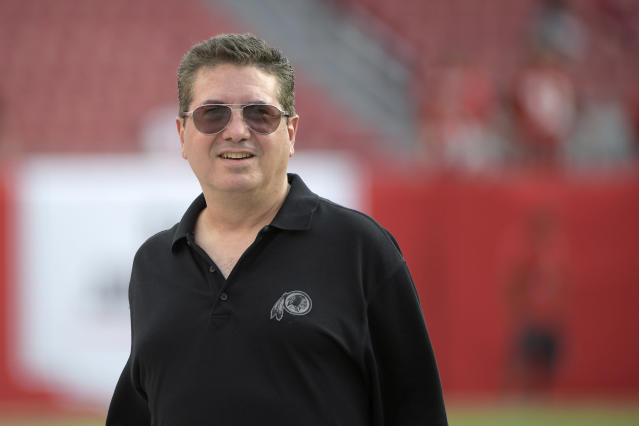 "Daniel Snyder's <a class=""link rapid-noclick-resp"" href=""/nfl/teams/was"" data-ylk=""slk:Washington Redskins"">Washington Redskins</a> shook up the team's business operations office on Wednesday. (AP)"