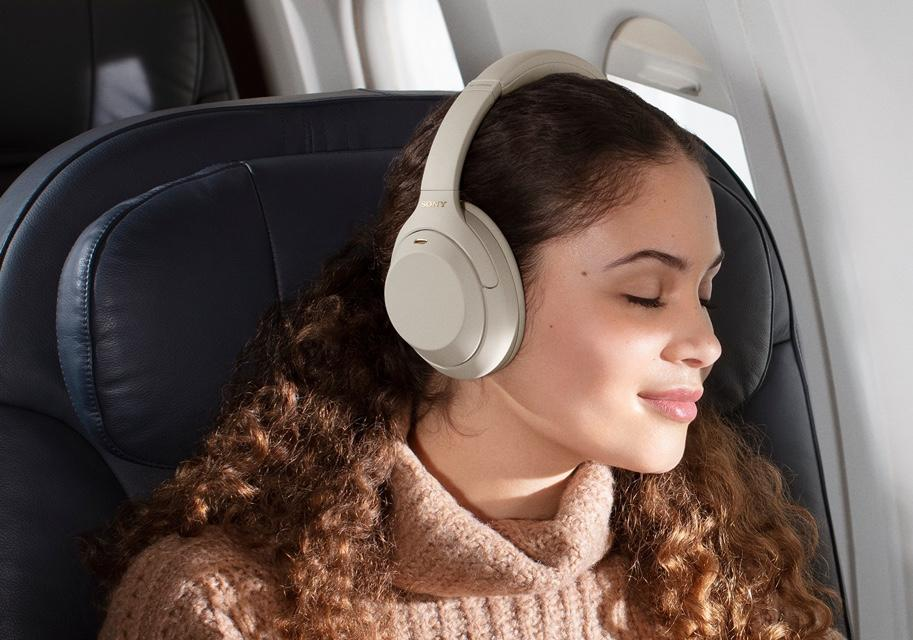 Sony's noise-cancelling headphones can block out the sound of chatting on a plane or provide you with some extra piece and quiet on the beach. (Image: Sony)