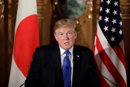 U.S. President Donald Trump speaks during a news conference with Japan's Prime Minister Shinzo Abe (not pictured) at Akasaka Palace in Tokyo, Japan, November 6, 2017. REUTERS/Kiyoshi Ota/Pool