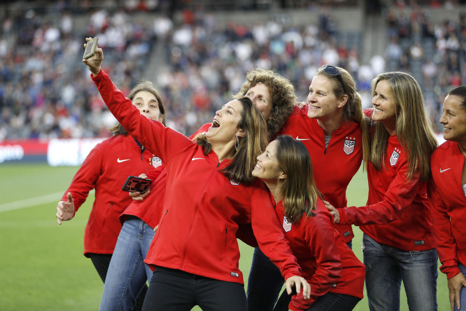 World Cup champion Julie Foudy and her 1999 teammates will become a movie on Netflix. (Meg Oliphant/Getty Images)