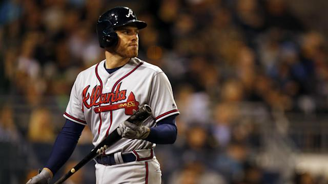 Despite his complaints, Freeman has found success at the plate against the Brewers.