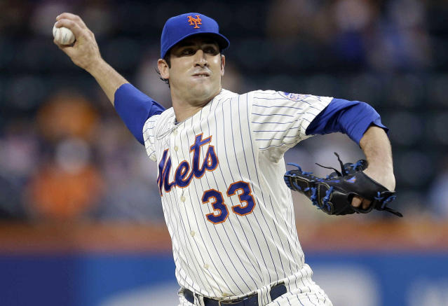 New York Mets' Matt Harvey delivers a pitch during the first inning of a baseball game against the Colorado Rockies on Wednesday, Aug. 7, 2013, in New York. (AP Photo/Frank Franklin II)