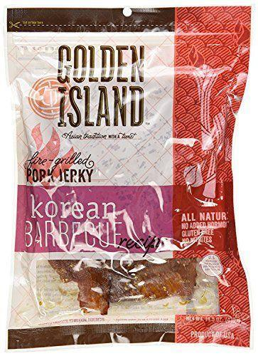 """<p><strong>Golden Island</strong></p><p>amazon.com</p><p><strong>$31.46</strong></p><p><a href=""""https://www.amazon.com/dp/B01N7NIU40?tag=syn-yahoo-20&ascsubtag=%5Bartid%7C10049.g.32793292%5Bsrc%7Cyahoo-us"""" rel=""""nofollow noopener"""" target=""""_blank"""" data-ylk=""""slk:Shop Now"""" class=""""link rapid-noclick-resp"""">Shop Now</a></p><p>May I venture to say that the jerky category has been going through a bit of a renaissance as of late? Nowadays, you can buy turkey jerky, beef jerky, even vegetarian jerky! Good if you crave salt and are trying to eat more protein. </p>"""