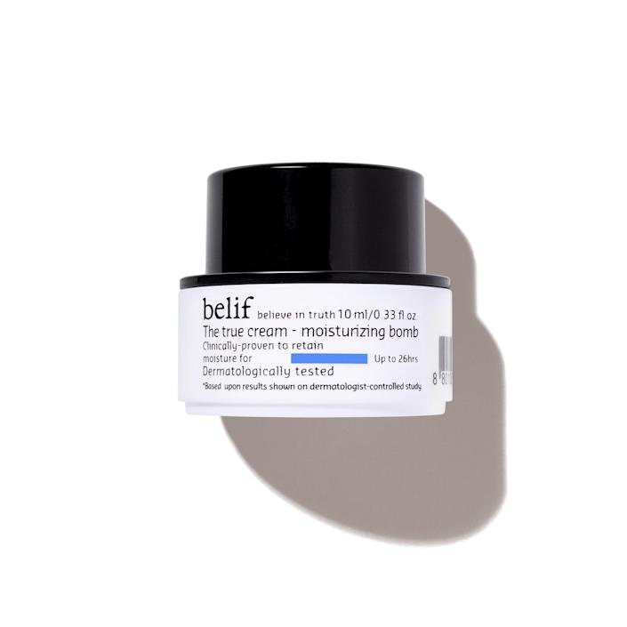 """Why you'll love it: You'll get to try the newest moisturizer from beloved K-Beauty brand Belif. It is lightweight but deeply hydrating, with soothing oat kernel extract, moisturizing herbs, and panthenol—a great option year-round. How you'll use it: Massage a small dollop of this airy cream onto your face and neck — a little bit goes a long way. """"Even on my laziest days, I never skip moisturizer, and lately I've been obsessed with Belif's."""" — Gabi Thorne *You will receive Belif The True Cream Aqua Bomb or Moisturizing Bomb in your box depending on your member history. +Subscribe now+"""