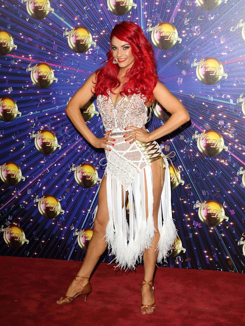 LONDON, UNITED KINGDOM - 2019/08/26: Dianne Buswell at the Strictly Come Dancing Launch at BBC Broadcasting House in London. (Photo by Keith Mayhew/SOPA Images/LightRocket via Getty Images)