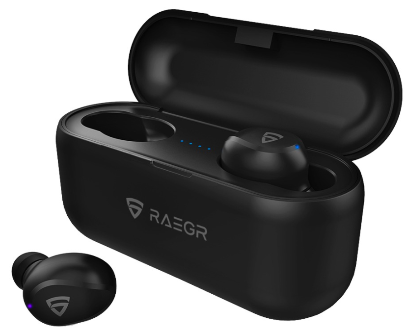 RAEGR - Unisex Black AirShots 700 TWS Wireless Earbuds