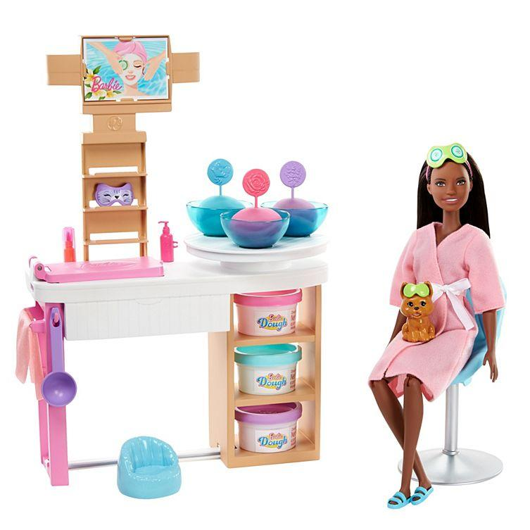 """The Barbies come in various stages of their """"self-care"""" routines. [Photo: Mattel]"""