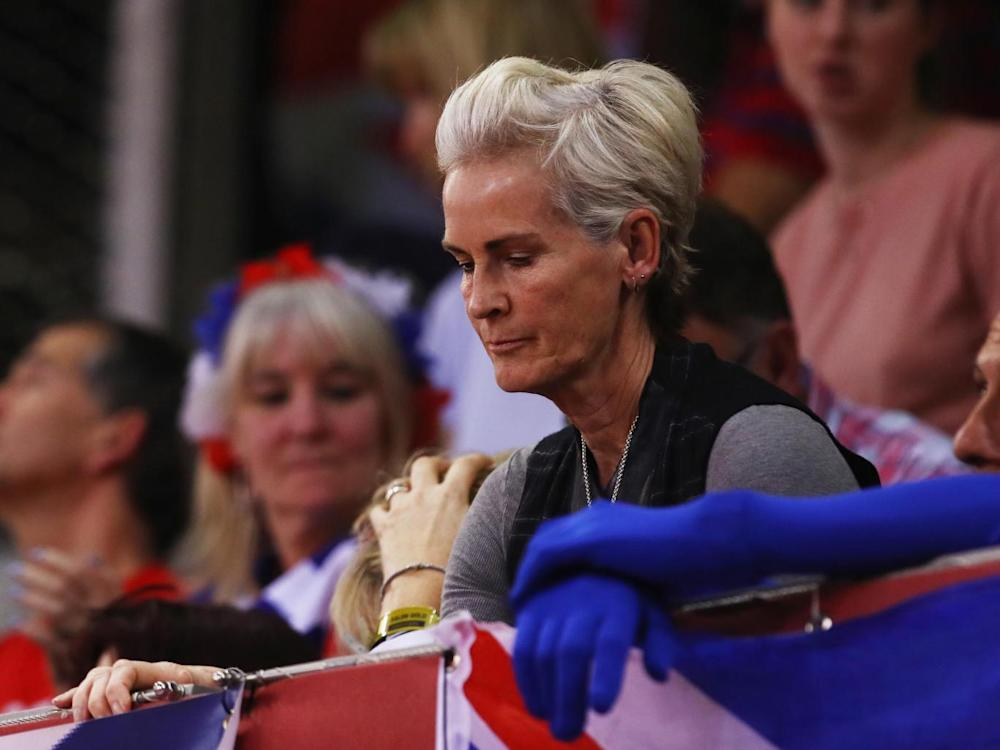Judy Murray watches from the crowd (Getty)