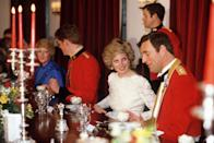 <p>At formal engagements, the royal table is precisely laid out with guests being placed next to one another based on age, interests, and gender. You're required to follow the lead of your host, the Queen: She speaks with the guest on her right during the first course, before turning to the guest on her left for her second. </p>