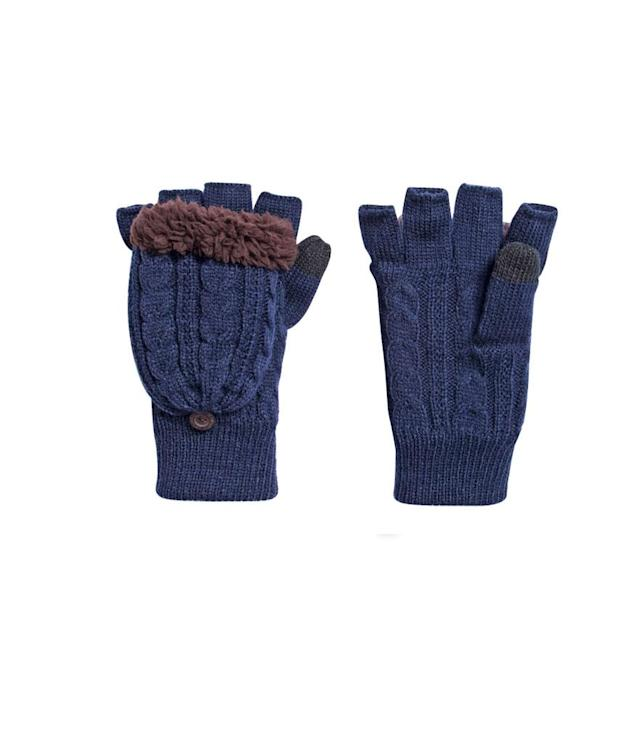 "<p>These soft acrylic-knit mittens can convert from fingerless texting accessories to toasty hand warmers thanks to the faux-fur-lined flip top. (<a href=""https://www.muk-luks.com/collections/womens/products/womens-bside-flip-mittens-plaid-fairisle-denim"" rel=""nofollow noopener"" target=""_blank"" data-ylk=""slk:$38, Muk Luks"" class=""link rapid-noclick-resp"">$38, Muk Luks</a>) </p>"