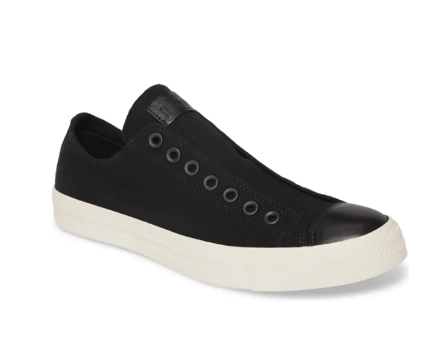 Converse Chuck Taylor All Star Laceless Low Top Sneaker. Image via Nordstrom.