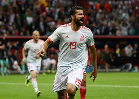 Soccer Football - World Cup - Group B - Iran vs Spain - Kazan Arena, Kazan, Russia - June 20, 2018 Spain's Diego Costa celebrates scoring their first goal. REUTERS/Sergio Perez