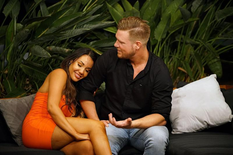 Davina Rankin and Dean Wells on Married At First Sight in 2018 (Photo: Channel Nine )