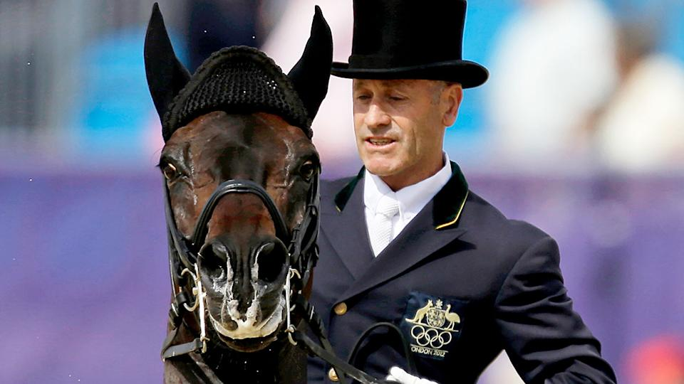 Pictured here, equestrian Andrew Hoy competing for Australia at the Olympic Games.