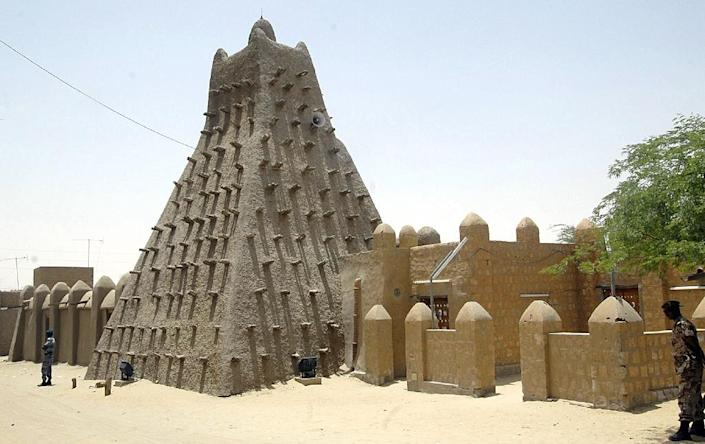 An Islamic center and mosque in Mali's fabled city of Timbuktu, where Ahmad al-Faqi al-Mahdi allegedly ordered the destruction of treasured monuments (AFP Photo/Habib Kouyate)