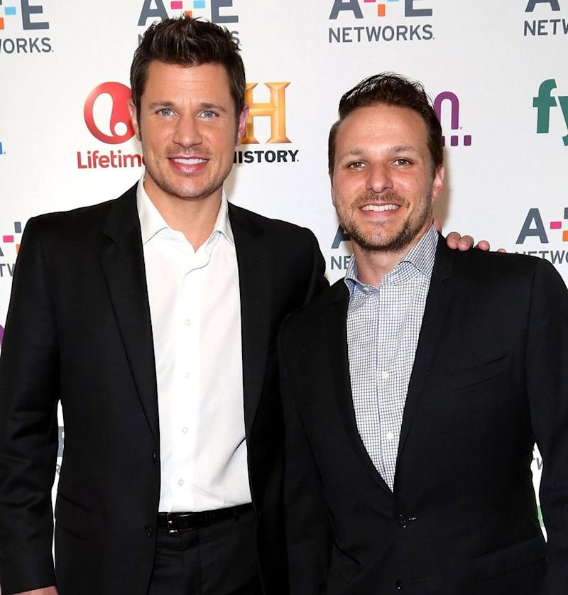 Nick (L) and Drew Lachey in 2014 | Paul Zimmerman/WireImage