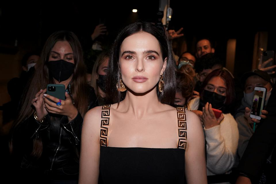 American actress Zoey Deutch guest at the party organized for the launch of the Fendace collection created by the collaboration between the fashion houses Fendi and Versace. Milan (Italy), September 26th, 2021 (Photo by Marco Piraccini/Mondadori Portfolio/Sipa USA)