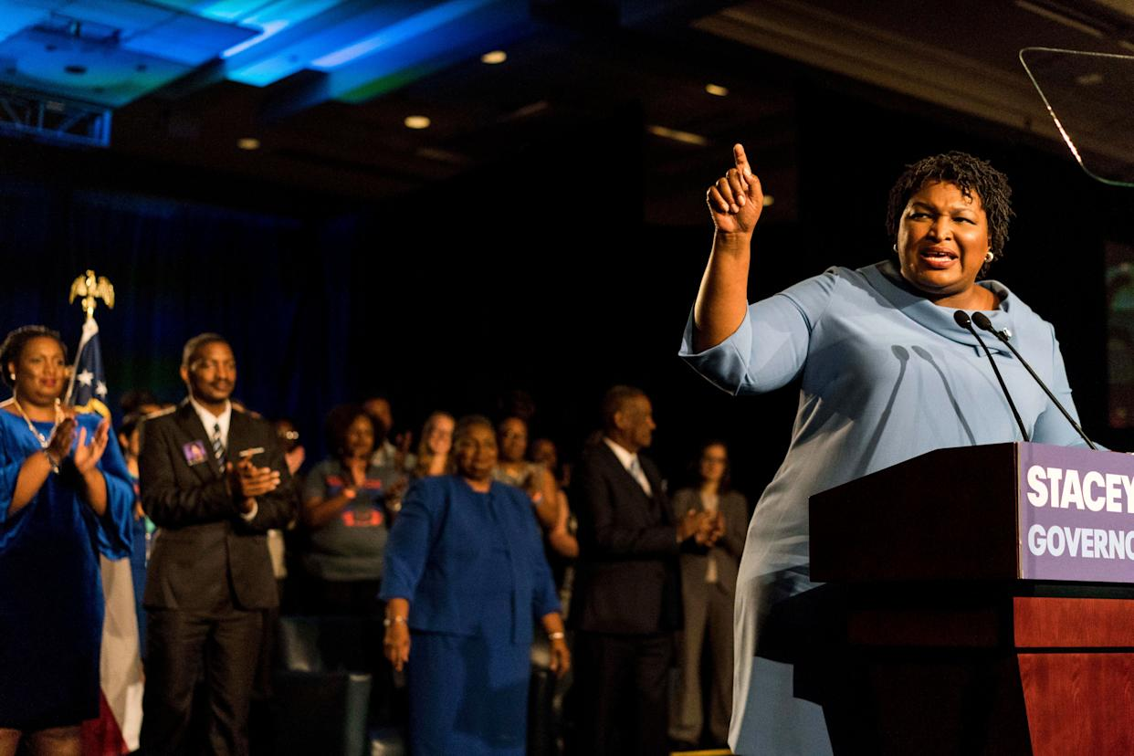 Democratic Georgia gubernatorial candidate Stacey Abrams has refused to concede the election until all the votes are counted. (Photo: The Washington Post via Getty Images)