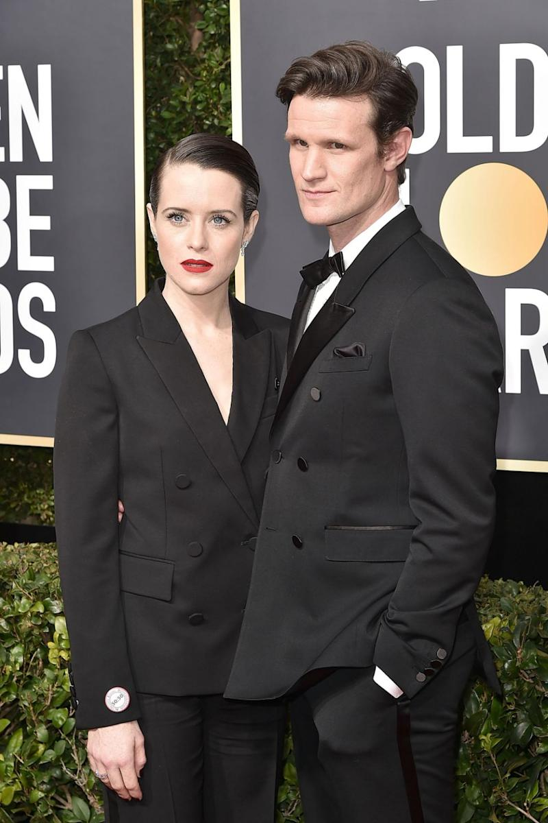 Claire, 33, was reportedly paid $50,000 per episode but it is unknown how much Matt, 35, was paid. The pair are here together at the 2018 Golden Globes. Source: Getty
