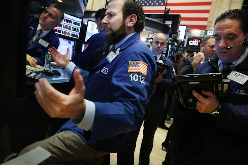 Markets Right Now: Stocks drop, led by technology companies