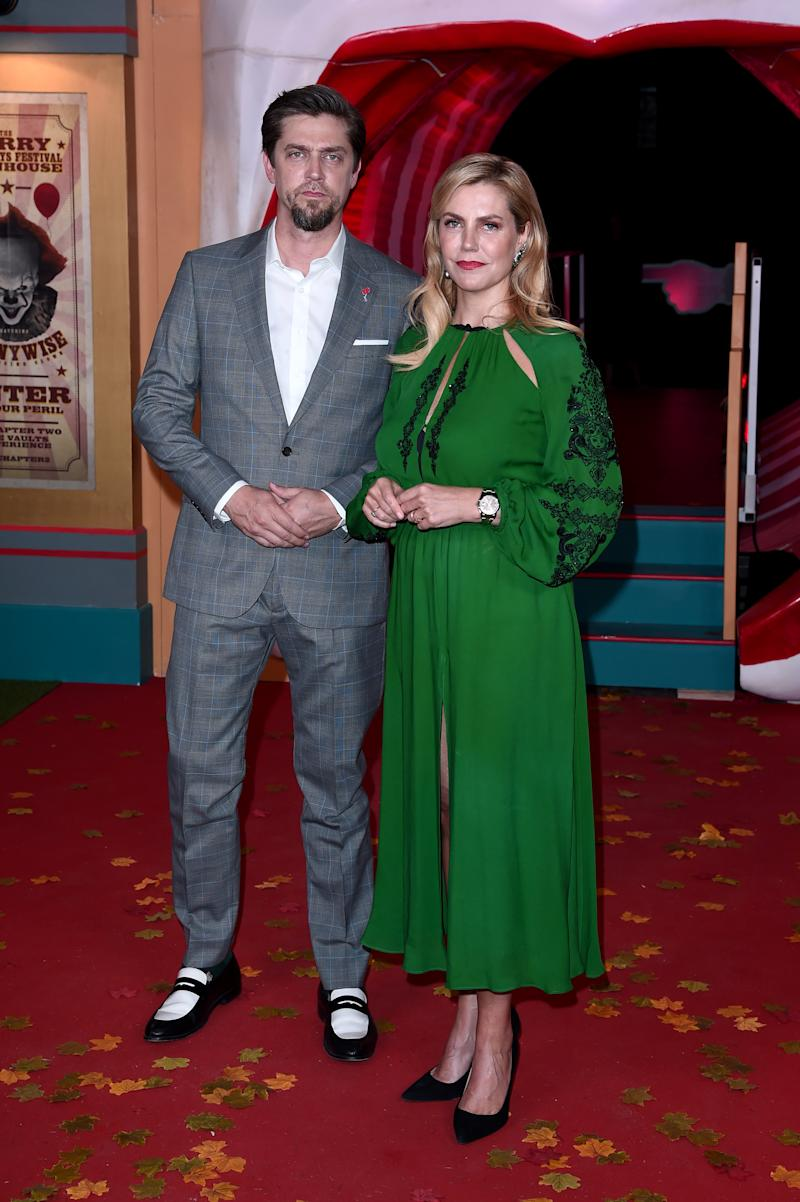 "LONDON, ENGLAND - SEPTEMBER 02: Director Andy Muschietti (L) and producer Barbara Muschietti attend the ""IT Chapter Two"" European Premiere at The Vaults on September 02, 2019 in London, England. (Photo by Eamonn M. McCormack/Getty Images)"