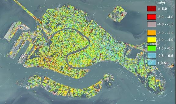 Venice's Gradual Sinking Charted by Satellites