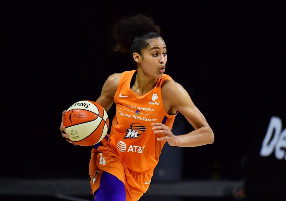 """<p>Diggins-Smith, <a href=""""https://www.popsugar.com/family/skylar-diggins-smith-postpartum-depression-47208765"""" class=""""link rapid-noclick-resp"""" rel=""""nofollow noopener"""" target=""""_blank"""" data-ylk=""""slk:a mom of one"""">a mom of one</a>, will be playing in her very first Olympic Games. She earned a gold medal at the 3x3 World Championships in 2012. <a href=""""https://www.usab.com/basketball/players/womens/d/diggins-skylar.aspx"""" class=""""link rapid-noclick-resp"""" rel=""""nofollow noopener"""" target=""""_blank"""" data-ylk=""""slk:Check out her USA Basketball profile here"""">Check out her USA Basketball profile here</a>.</p> <p><strong>Age:</strong> 30</p> <p><strong>Current WNBA Team:</strong> Phoenix Mercury</p> <p><strong>Position:</strong> Guard</p> <p><strong>Instagram:</strong><a href=""""https://www.instagram.com/skylardigginssmith/"""" class=""""link rapid-noclick-resp"""" rel=""""nofollow noopener"""" target=""""_blank"""" data-ylk=""""slk:@skylardigginssmith"""">@skylardigginssmith</a></p>"""
