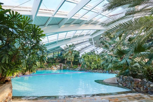 The sub-tropical swimming paradise pool (Center Parcs)