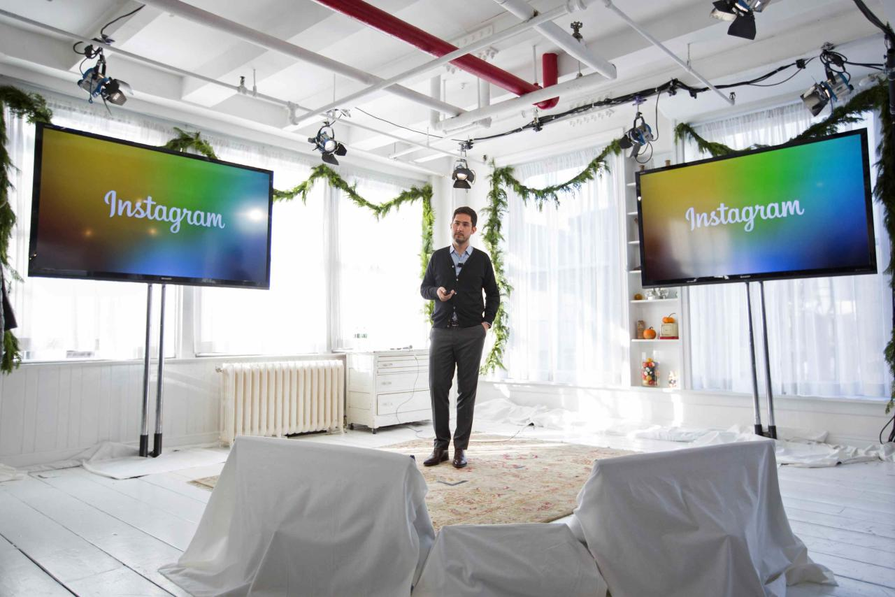 Instagram Chief Executive Officer and co-founder Kevin Systrom announces the launch of a new service named Instagram Direct in New York December 12, 2013. Photo-sharing service Instagram unveiled a new feature on Thursday to let people send images and messages privately, as the Facebook-owned company seeks to bolster its appeal among younger consumers who are increasingly using mobile messaging applications. The new Instagram Direct feature allows users to send a photo or video to a single person or up to 15 people, and have a real-time text conversations. REUTERS/Lucas Jackson (UNITED STATES - Tags: SCIENCE TECHNOLOGY BUSINESS PROFILE HEADSHOT LOGO)