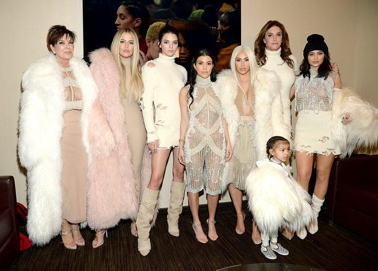 The Kardashian-Jenners (Photo: Kevin Mazur/Getty Images for Yeezy Season 3)