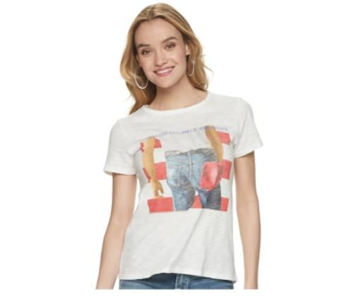 "Women's Rock & Republic ""Born In The USA"" Graphic Tee. (Photo: Kohl's)"