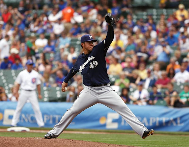 Gallardo wins again, pitches Brewers past Cubs 3-1