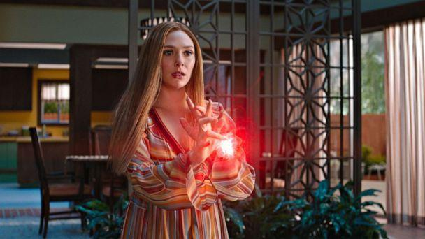 PHOTO: Elizabeth Olsen as Wanda Maximoff in Marvel Studios' 'Wandavision.' (Disney)