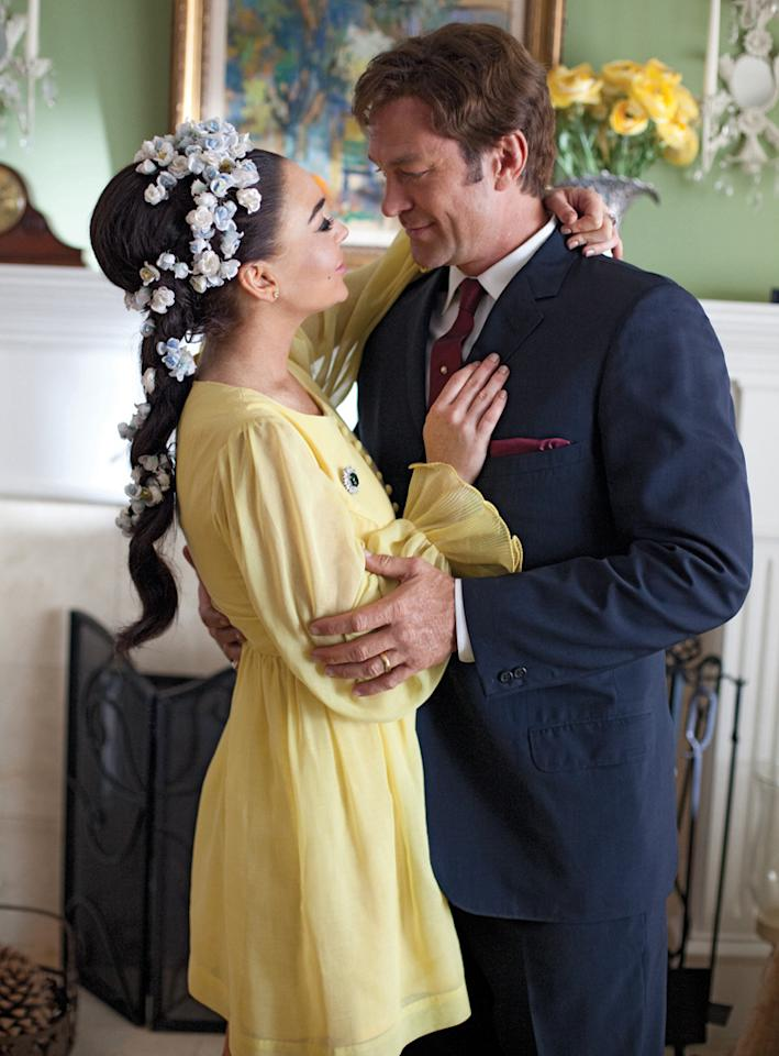"Lindsay Lohan stars as Elizabeth Taylor and Grant Bowler stars as Richard Burton in the Lifetime Original Movie, ""Liz & Dick."""