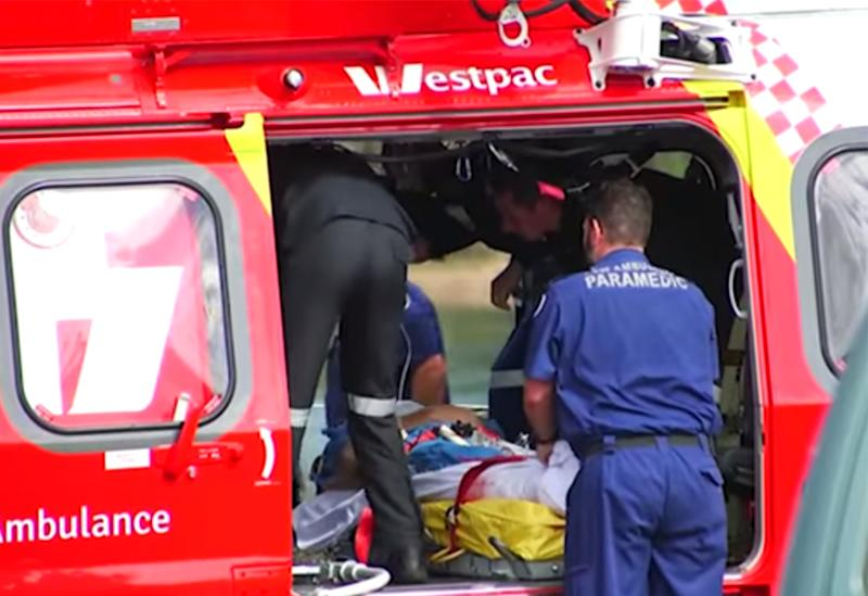 The shark attack victim suffered a severe leg injury after the incident at Nambucca Heads, NSW.