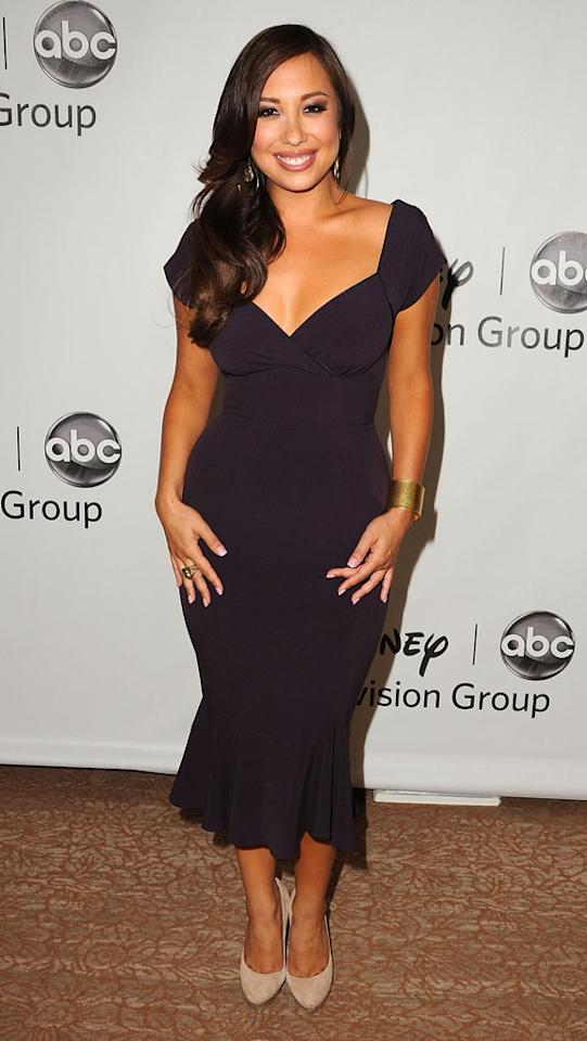 "Cheryl Burke (""Dancing With the Stars"") arrives at  the Disney/ABC Television Group Summer 2012 Press Tour Party at The  Beverly Hilton Hotel on July 27, 2012 in Beverly Hills, California."