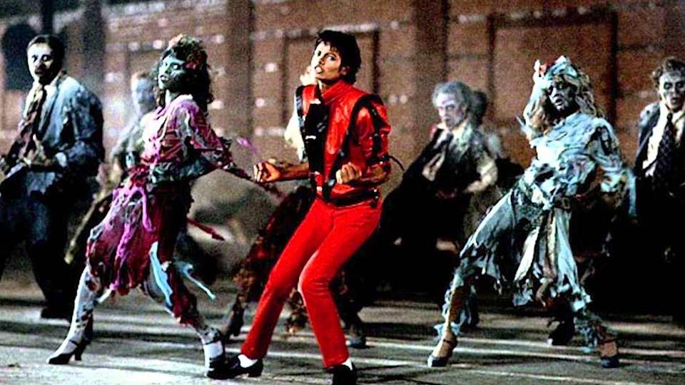 <p>It wasn't released in time for Halloween, but on December 2, 1983, Michael Jackson dropped his legendary, 13-minute film for <em>Thriller</em>. From Michael's iconic red leather outfit to the popular zombie-dance, the groundbreaking music video made a permanent mark on entertainment (and Halloween) history.</p>