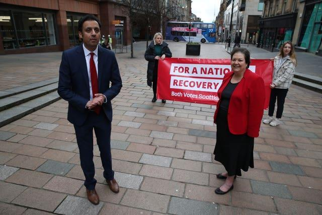 Anas Sarwar and Jackie Baillie