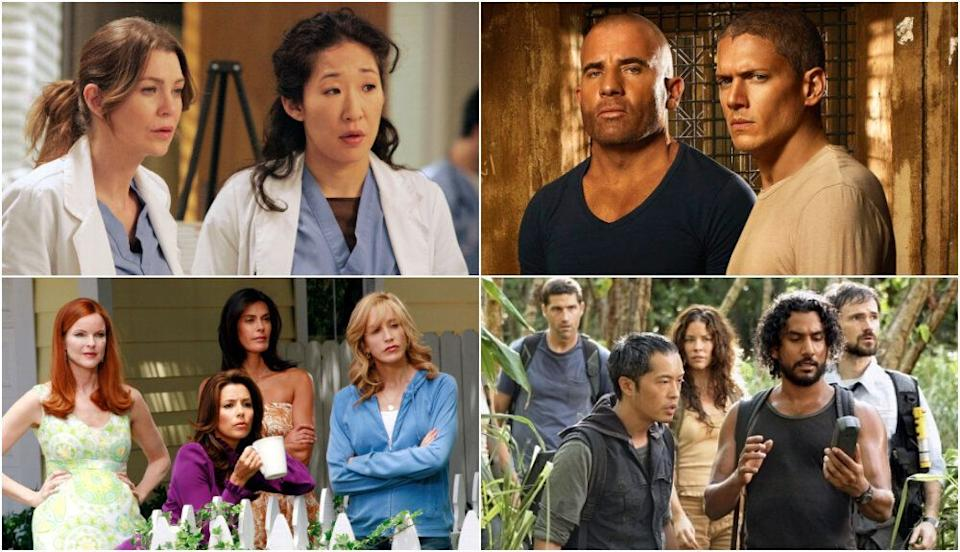 Grey's Anatomy, Prison Break, Ugly Betty, Desperate Housewives and Lost are joining Disney+ (Photo: NBC/ABC/Fox)
