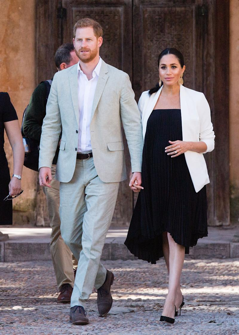 Harry and Meghan visit the Andalusian Gardens to hear about youth empowerment in Rabat, Morocco.