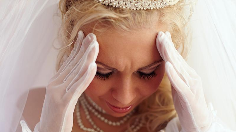 A bride has been mocked after complaining that half of those invited to her wedding had declined to attend. Photo: Getty