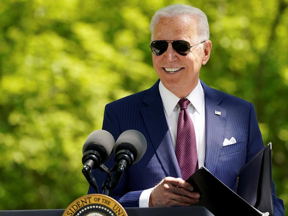 President Joe Biden delivers remarks on the administration's coronavirus response outside the White House (REUTERS)