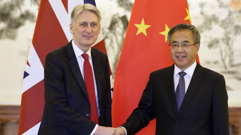 Chinese vice premier 'regrets' harm South China Sea causes UK-China relations
