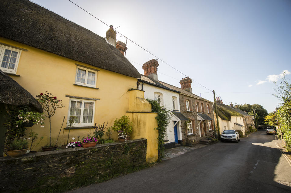 Properties in Devon as experts weigh up the future of the UK property market. Photo: Ben Birchall/PA
